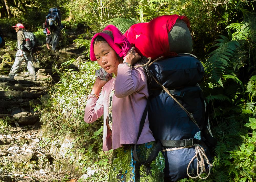 woman porter, Annapurna