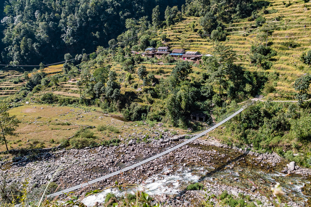 Suspended bridge, Annapurna