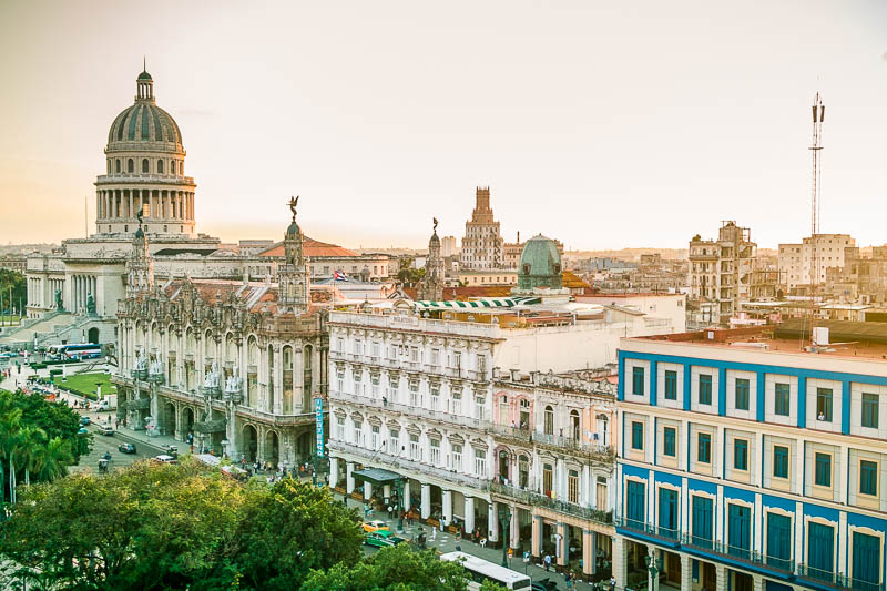 The Capitol, opera and Inglaterra hotel in Havana