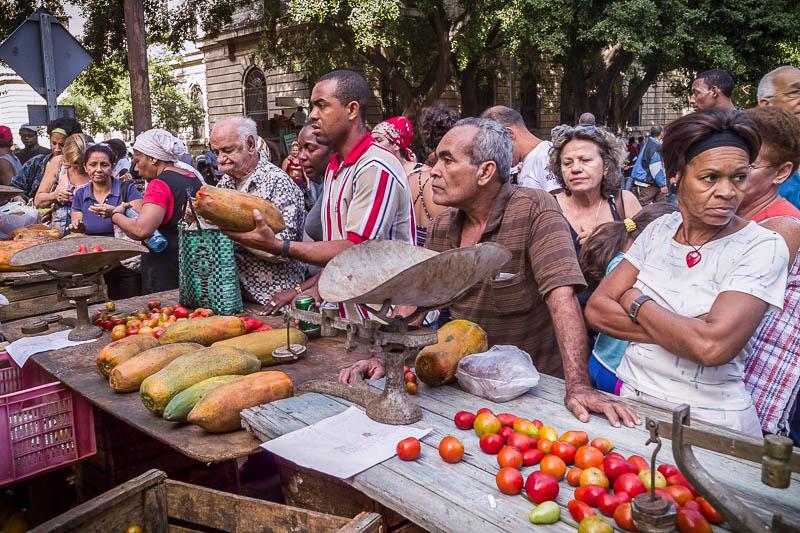 Street market, Havana