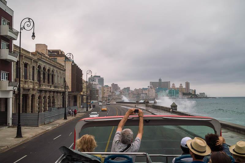 Malecon tourists