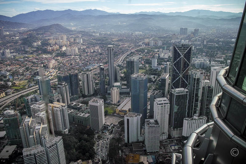 Kuala Lumpur View from the 86th Floor of Petronas Towers