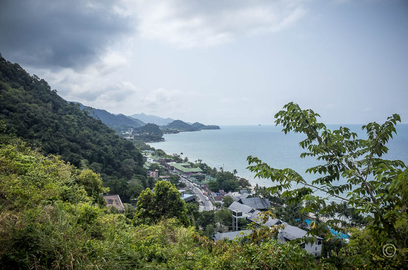 Scenic view towards Gulf of Thailand