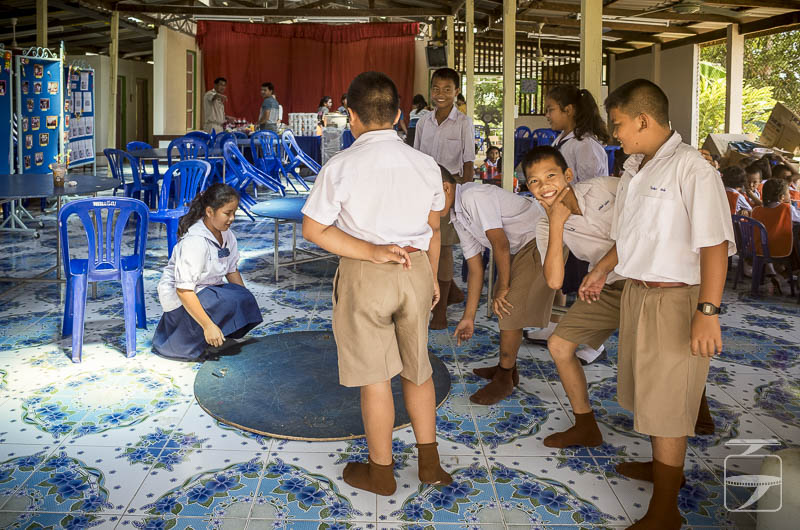 School canteen tables preparation