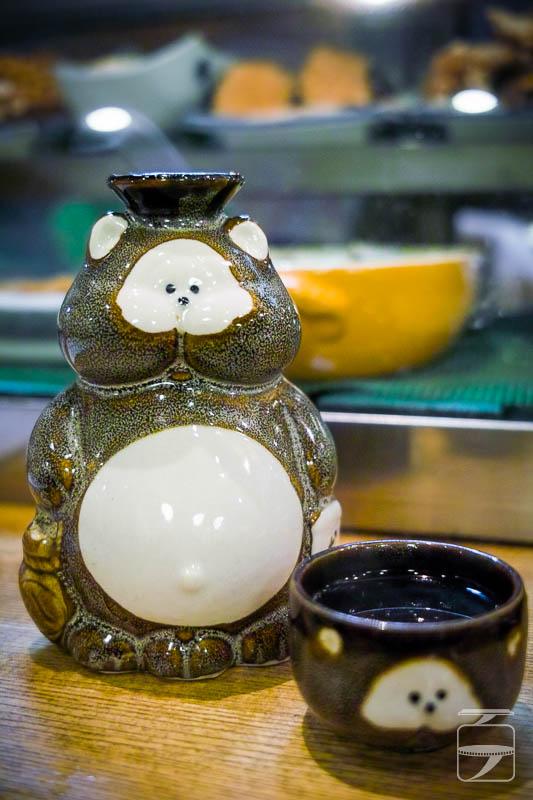 """Cute sake""""tokkuri"""" and""""sakazuki"""" flask and cup"""