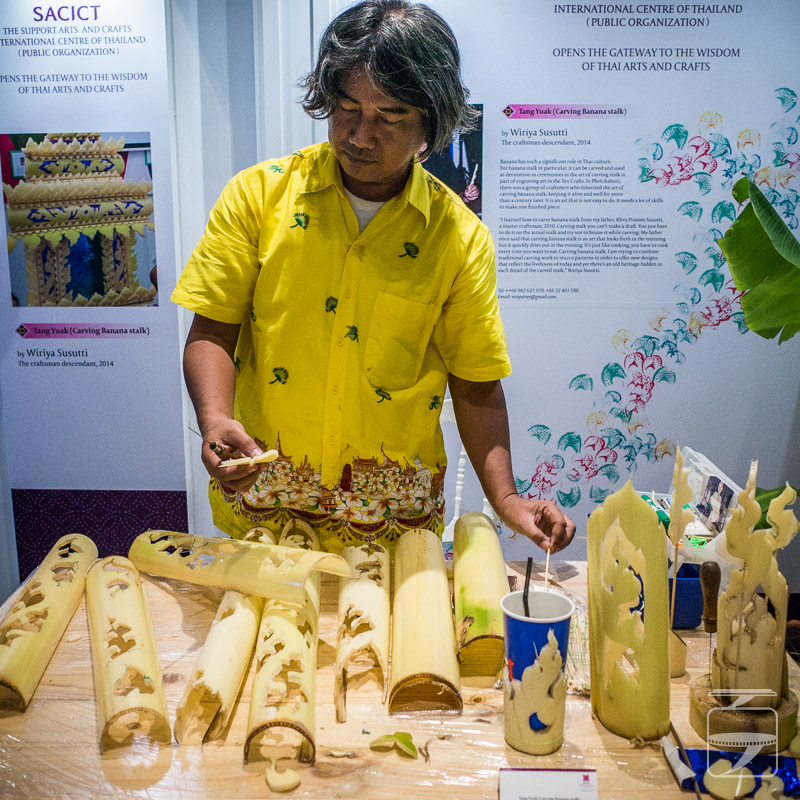 Banana stalk carving