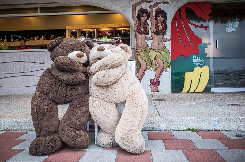 Teddy bears and hula dancers