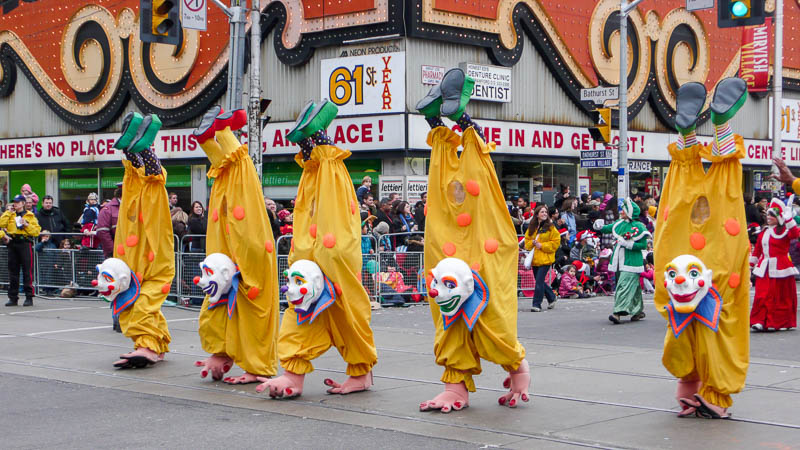 Clowns, Santa Claus Parade