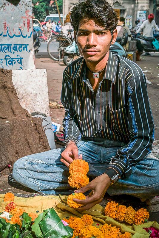 Flower seller, New Delhi