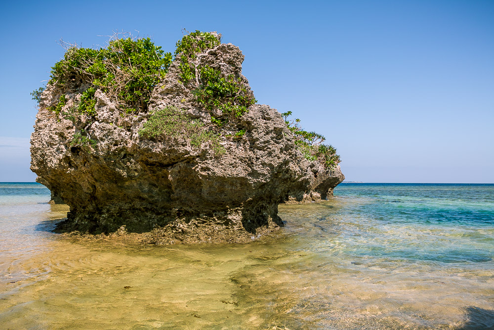 Iriomote beach rock