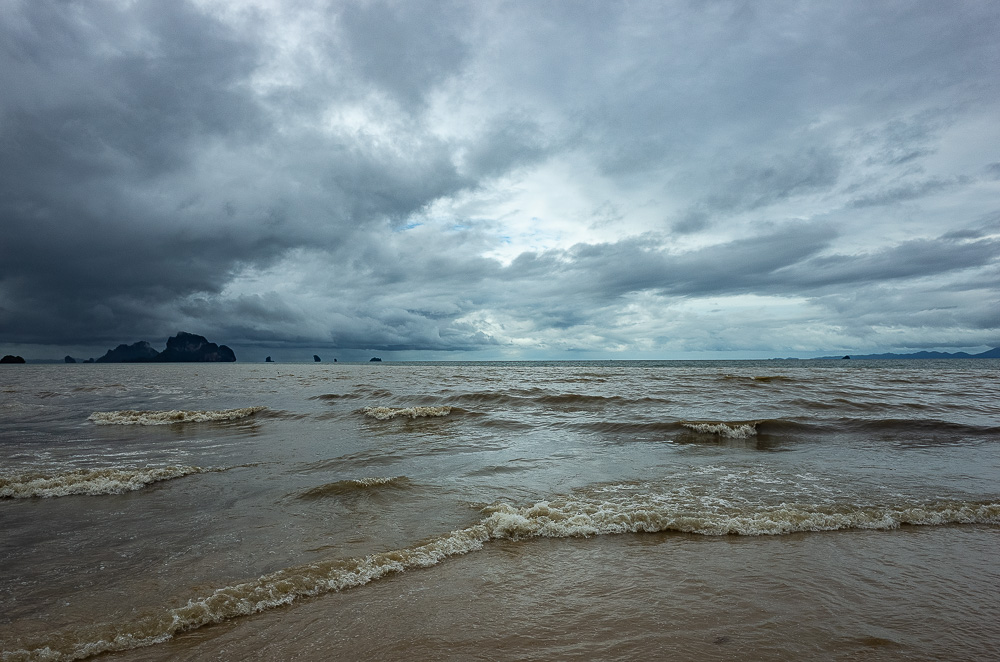 Andaman Sea during Pabuk tropical storm, Ao Nang