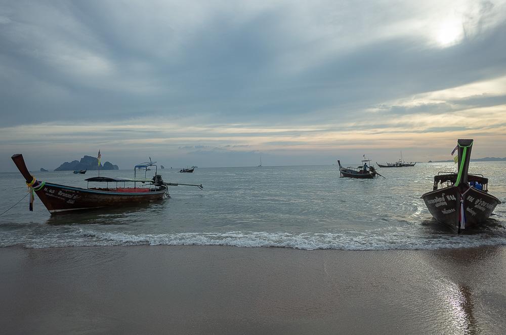 Long tail boats, Andaman Sea