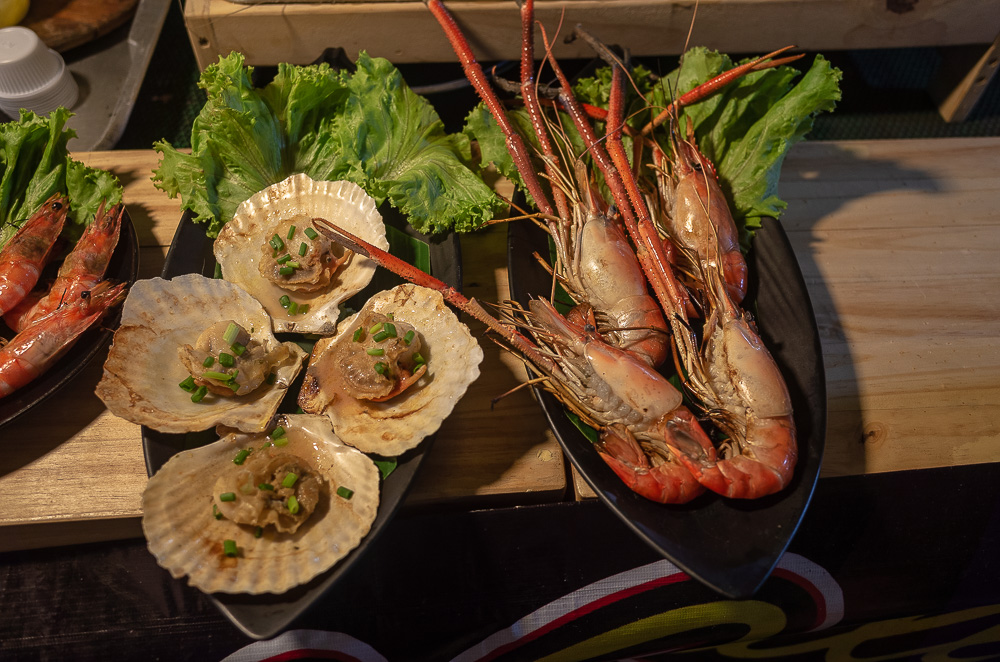 Shell food and shrimps