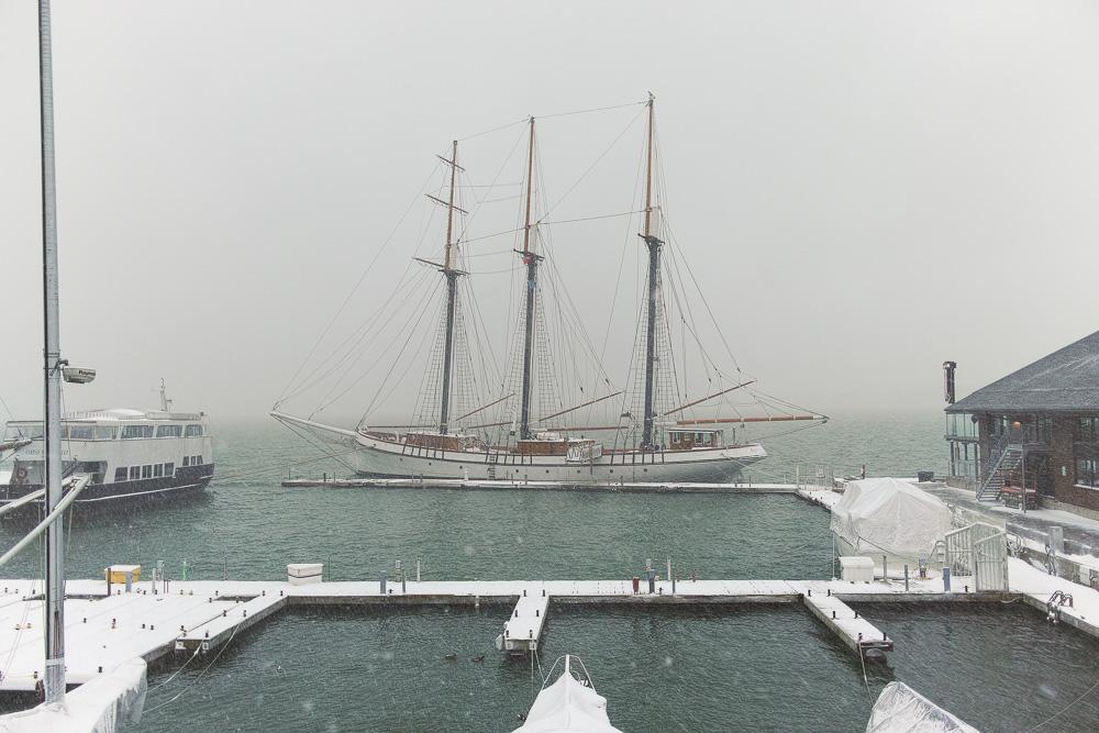 Tall ship, winter
